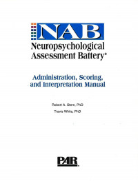 Neuropsychological Assessment Battery (NAB)