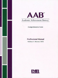 Academic Achievement Battery Comprehensive Form