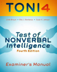 Test of Nonverbal Intelligence, Fourth Edition
