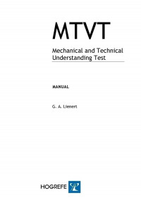 Mechanical and Technical Understanding Test (MTVT)